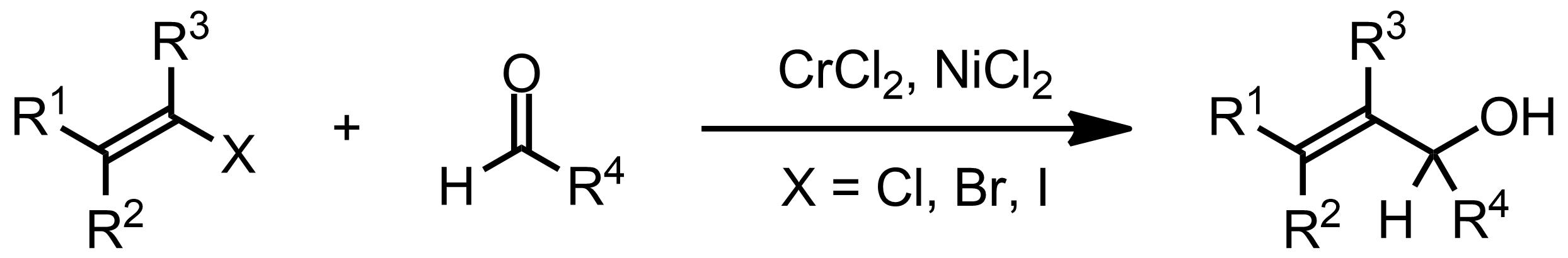 Schematic representation of the Nozaki-Hiyama-Kishi Reaction.