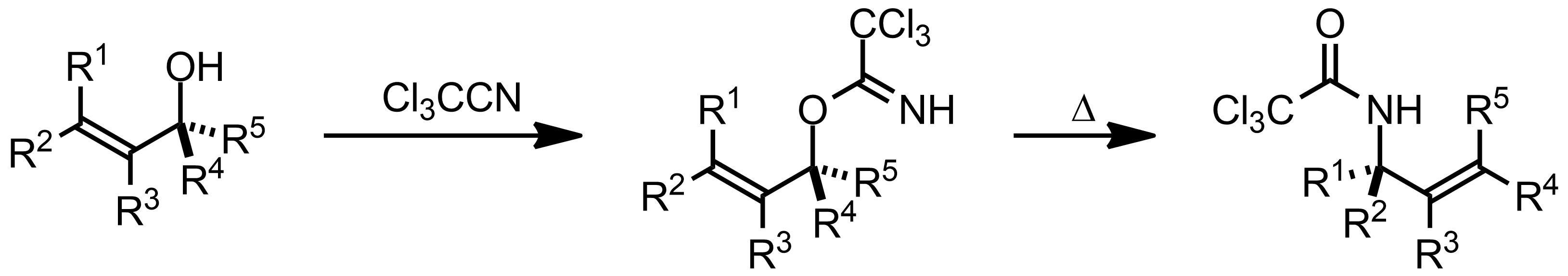 Schematic representation of the Overman Rearrangement.