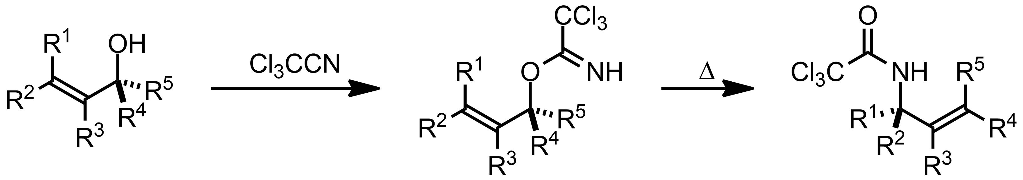 Schematic representation of the Overman Rearrangement.