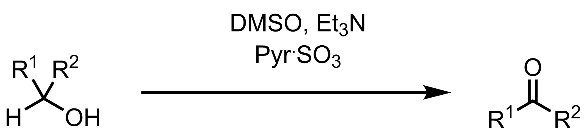 Schematic representation of the Parikh-Doering Oxidation.