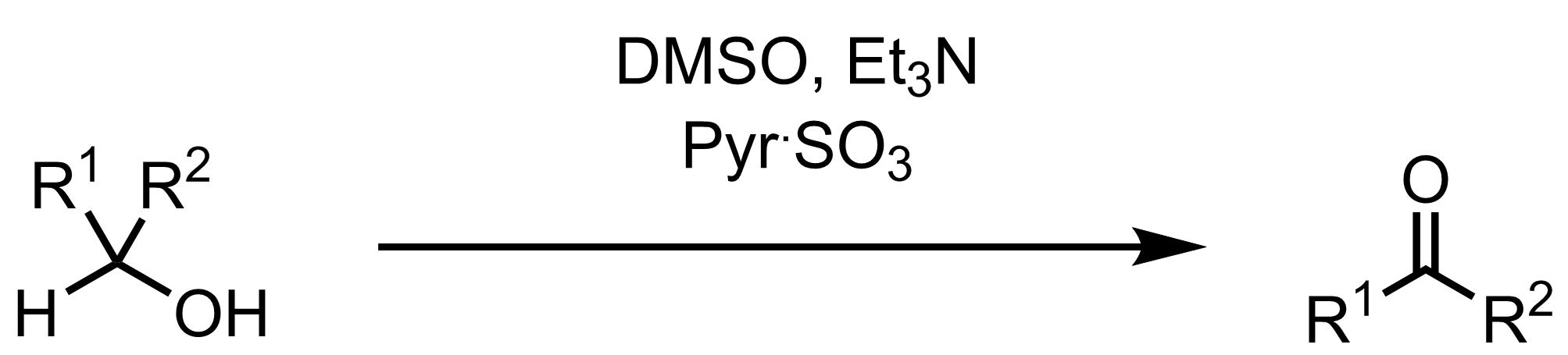 Schematic representation of the Parikh-Doering Oxidation.