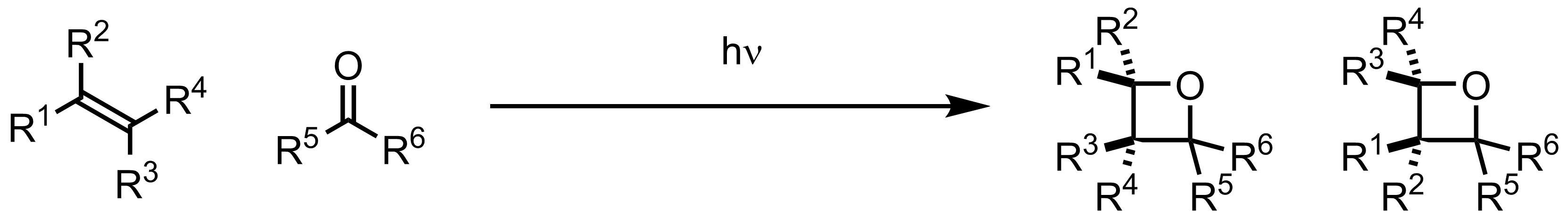 Schematic representation of the Paterno-Büchi Reaction.