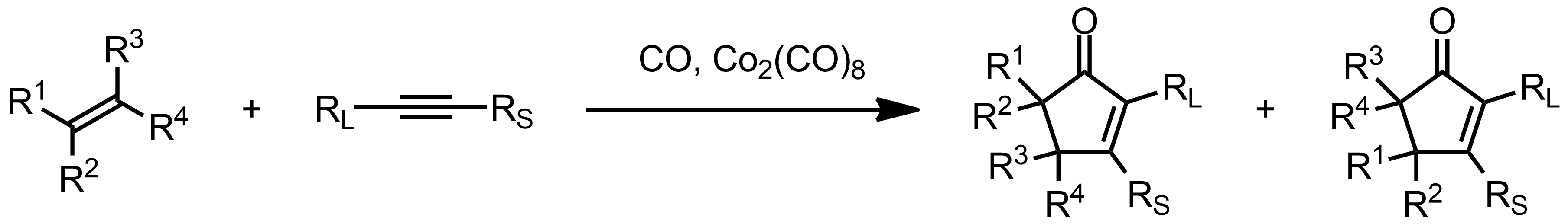 Schematic representation of the Pauson-Khand Reaction.