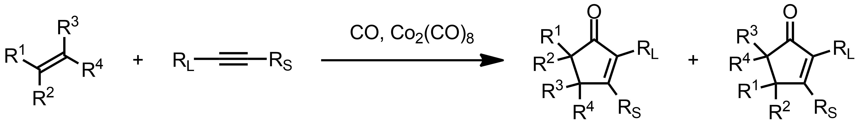 Schematic representation of the Pauson-Khand Reaction.