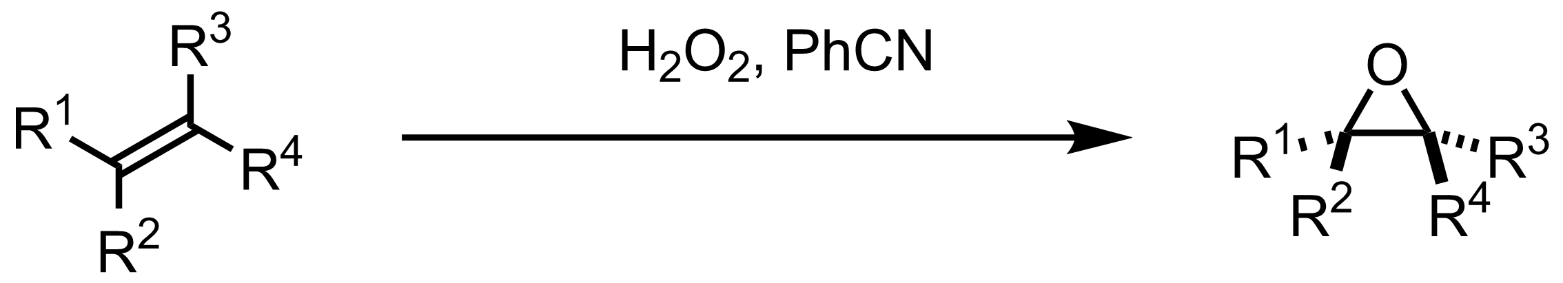 Schematic representation of the Payne Epoxidation.