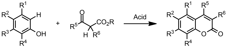 Schematic representation of the Pechmann Condensation.