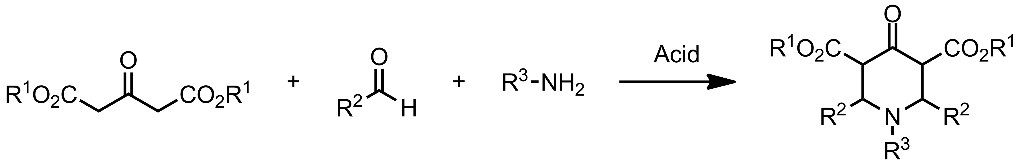 Schematic representation of the Petrenko-Kritschenko Piperidone Synthesis.