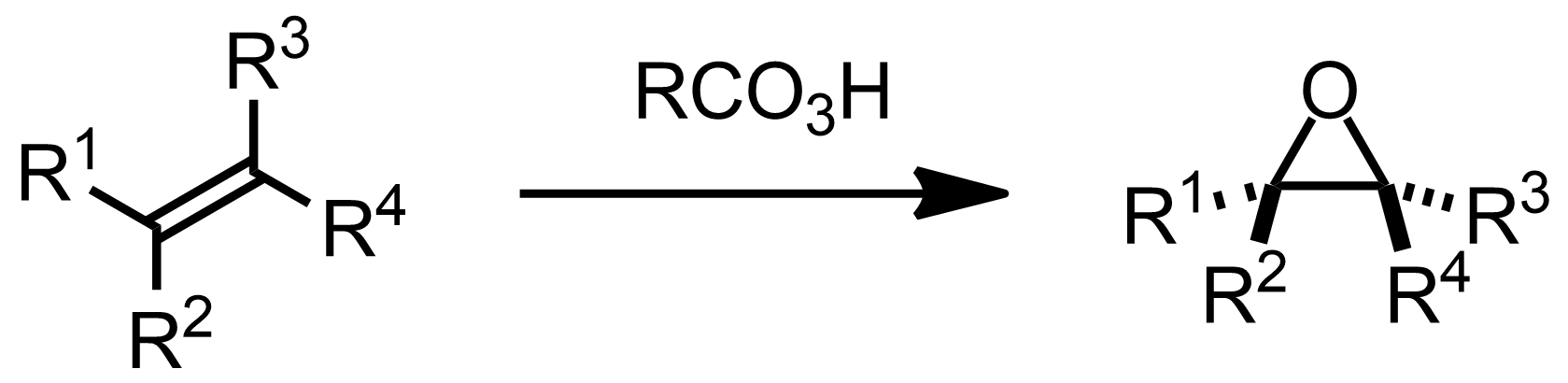 Schematic representation of the Prilezhaev Reaction.