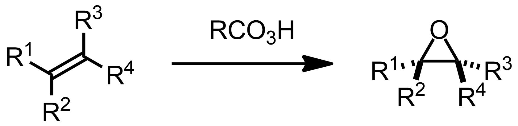 Schematic representation of the Prilezhaev Reaction.
