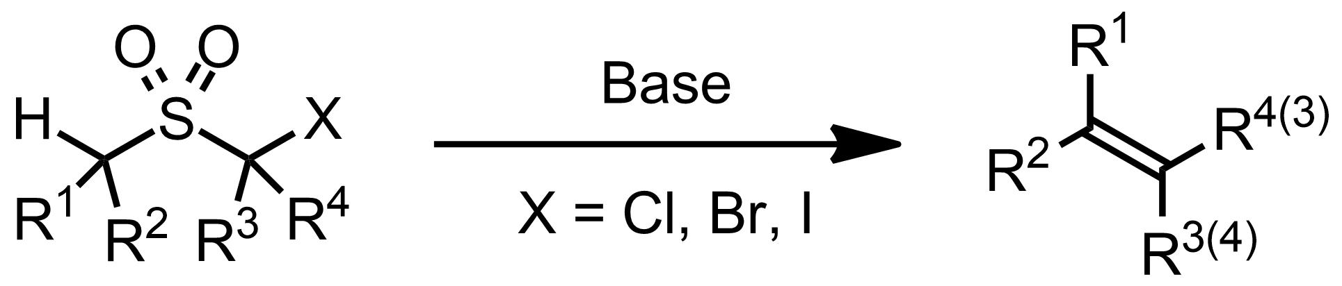 Schematic representation of the Ramberg-Bäcklund Reaction.
