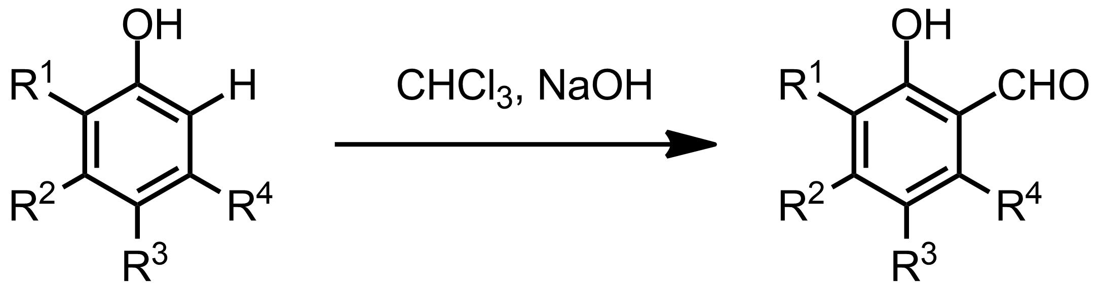 Schematic representation of the Reimer-Tiemann Formylation.