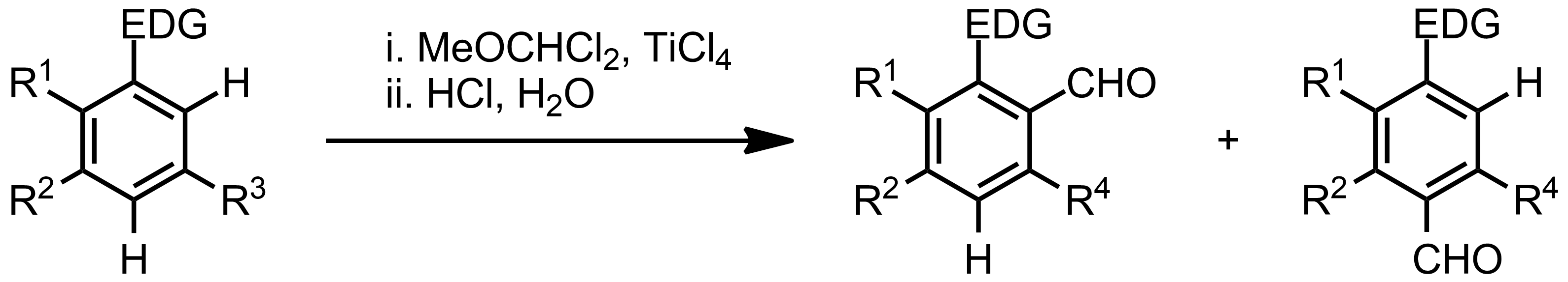 Schematic representation of the Rieche Formylation.