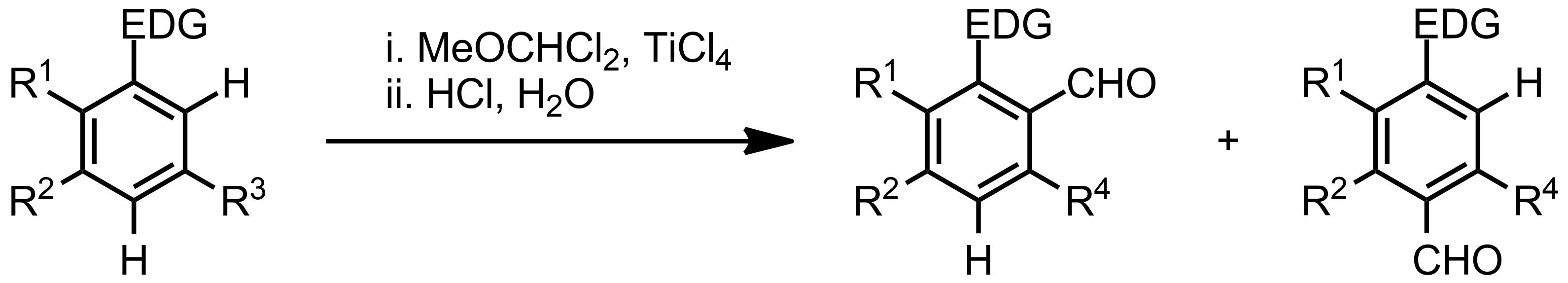 Schematic representation of the Rieche Formylation.