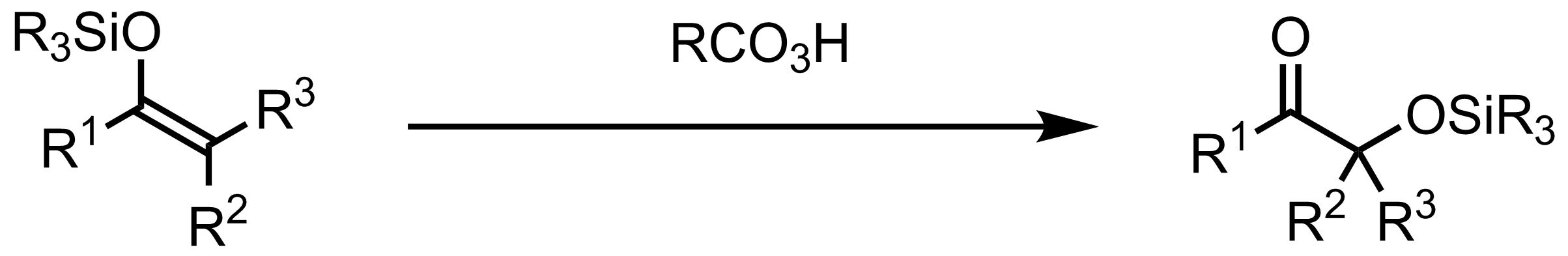 Schematic representation of the Rubottom Oxidation.