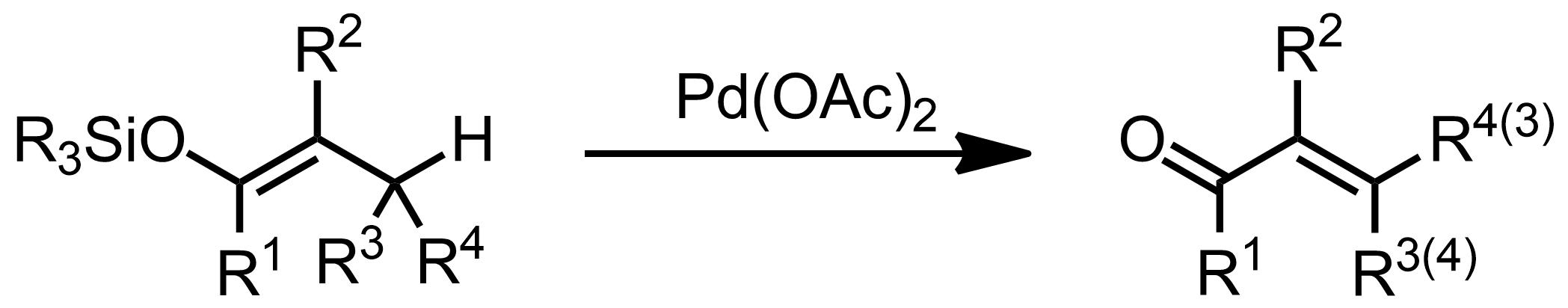 Schematic representation of the Saegusa-Ito Oxidation.