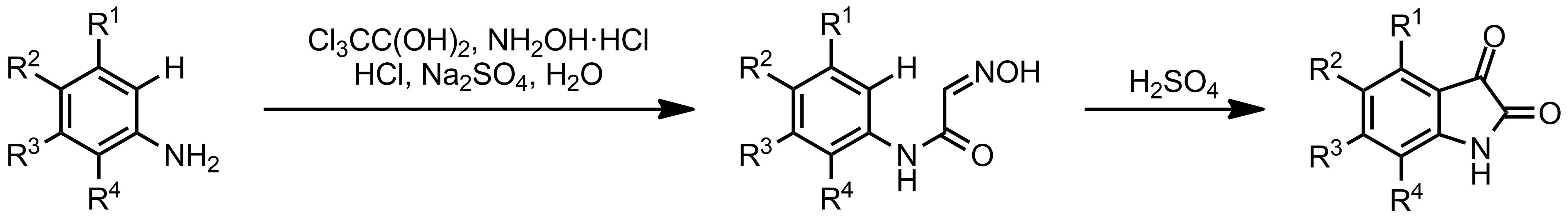 Schematic representation of the Sandmeyer Isatin Synthesis.