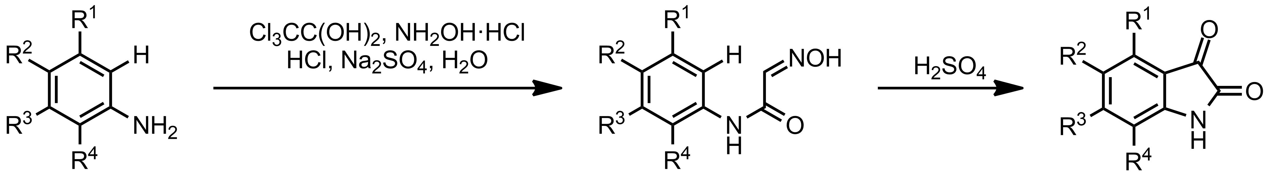Schematic representation of the Sandmeyer Isatin Synthesis.