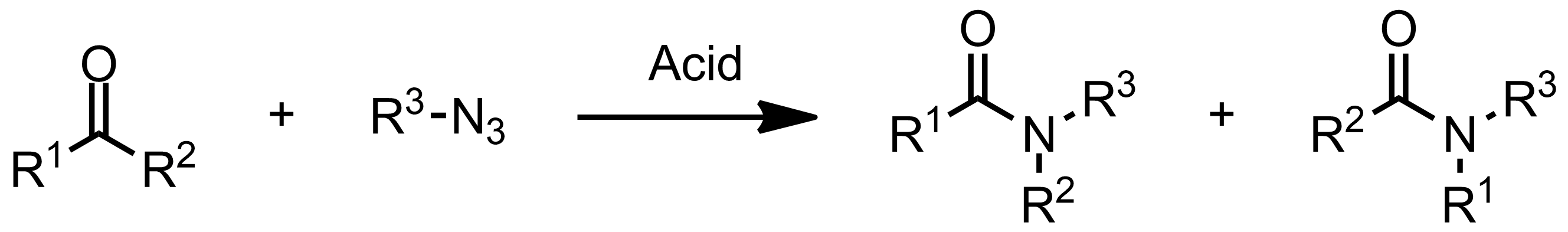 Schematic representation of the Schmidt Reaction.
