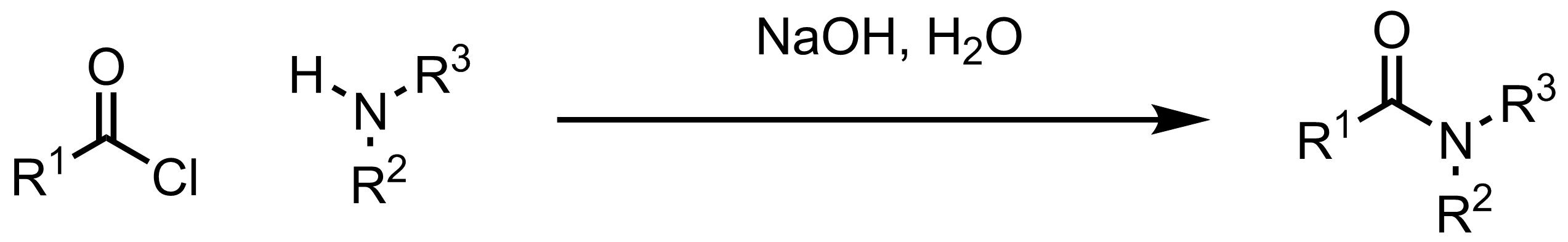 Schematic representation of the Schotten-Baumann Reaction.