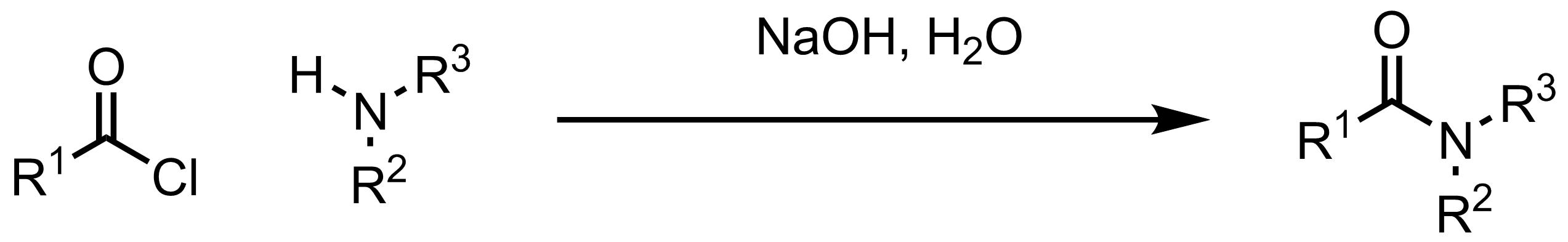 Schematic representation of the Schotten-Baumann Reaction.