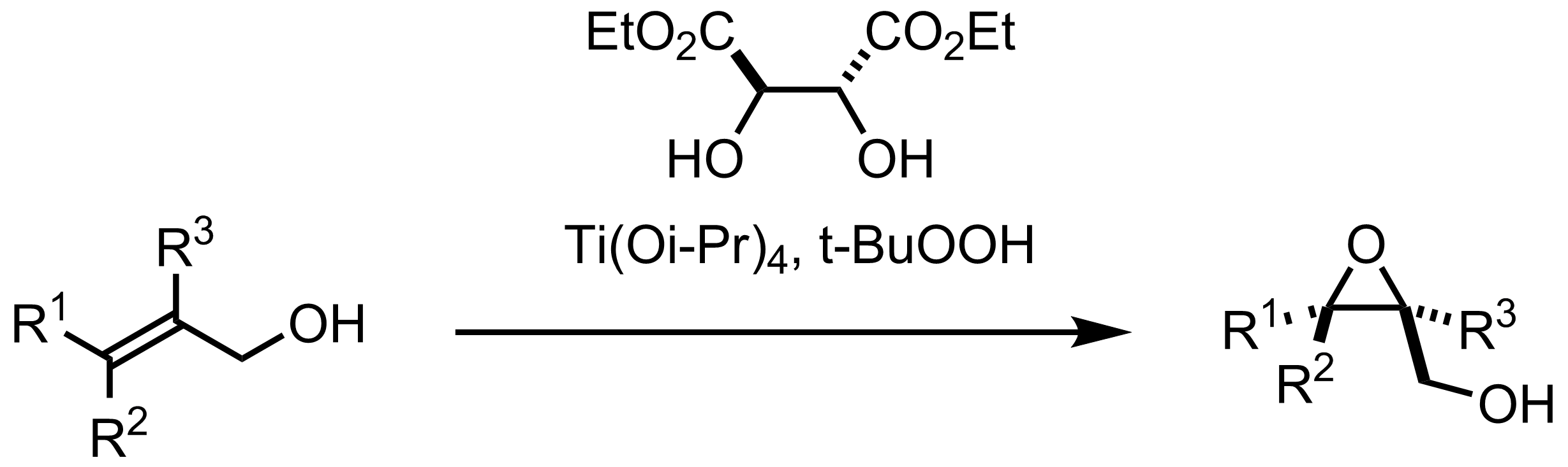 Schematic representation of the Sharpless Epoxidation.