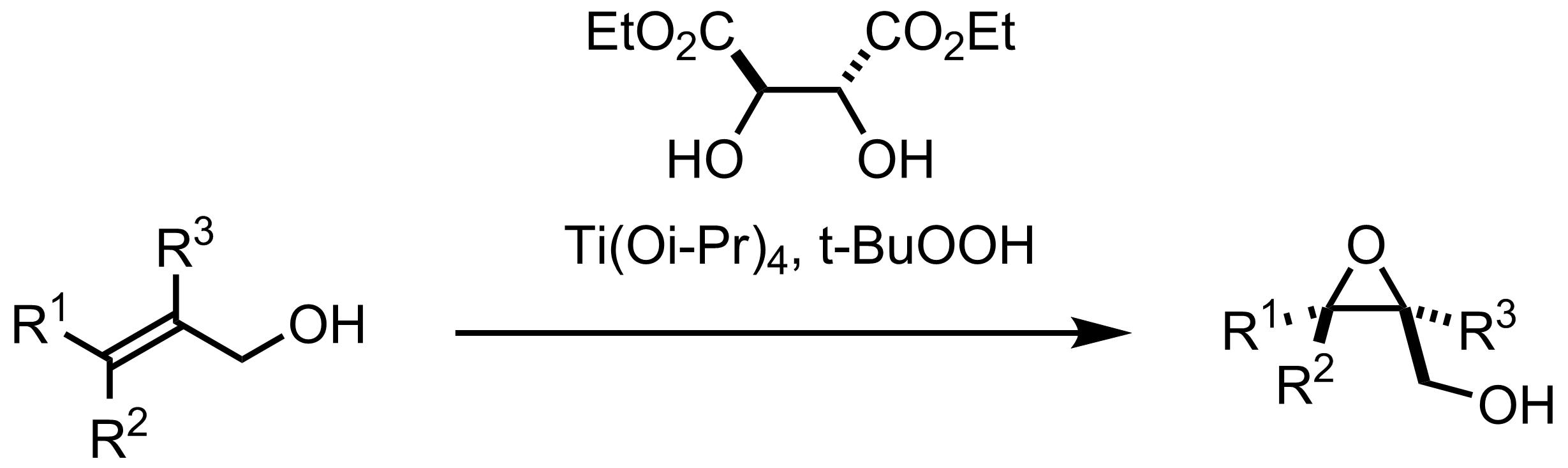 Schematic representation of the Sharpless Epoxidation.
