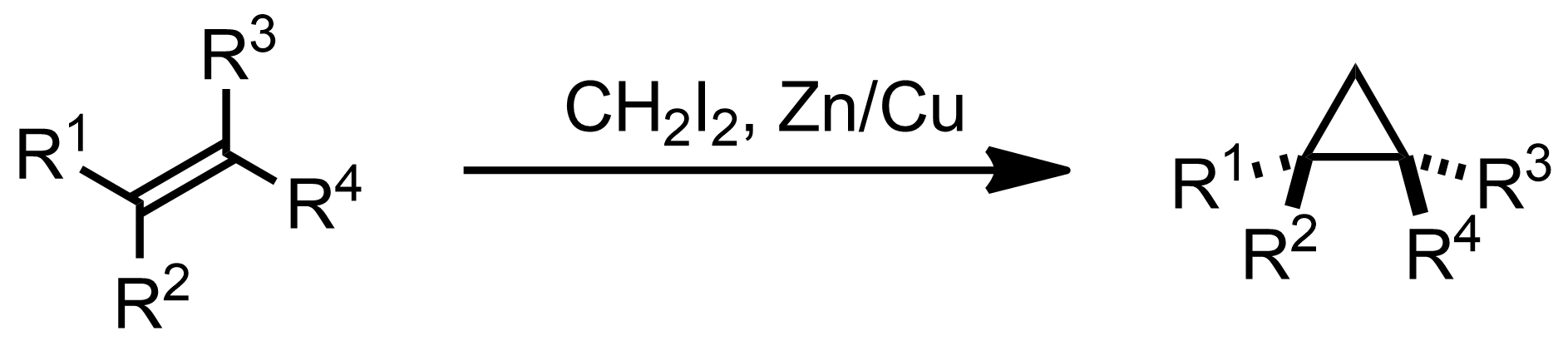 Schematic representation of the Simmons-Smith Reaction.