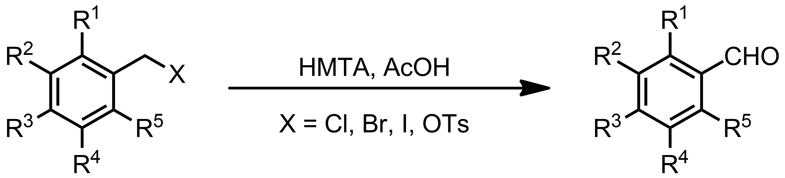 Schematic representation of the Sommelet Reaction.