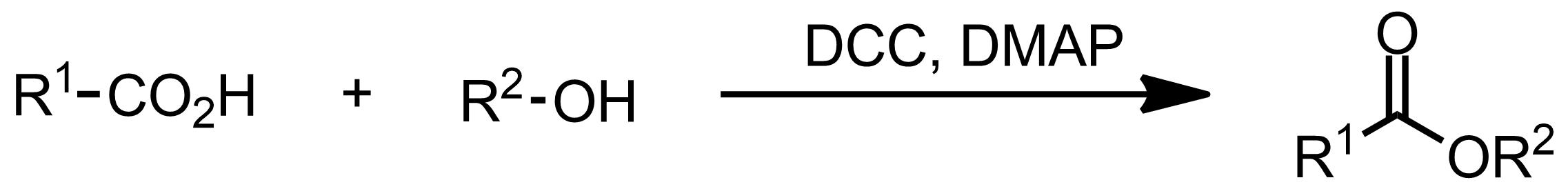 Schematic representation of the Steglich Esterification.
