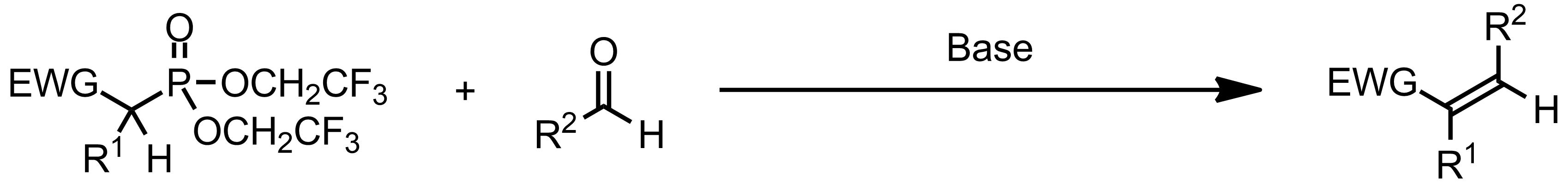 Schematic representation of the Still-Gennari Reaction.