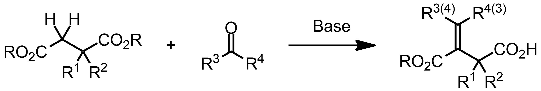 Schematic representation of the Stobbe Condensation.