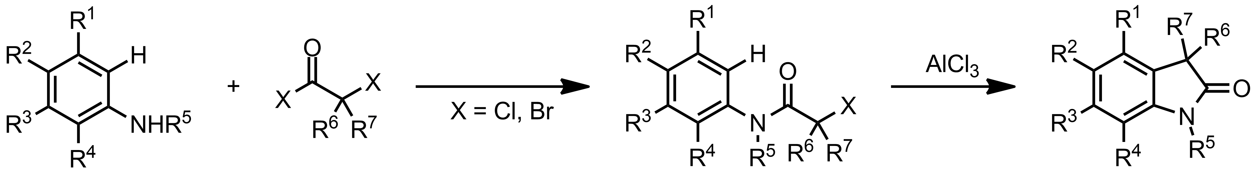 Schematic representation of the Stollé Synthesis.