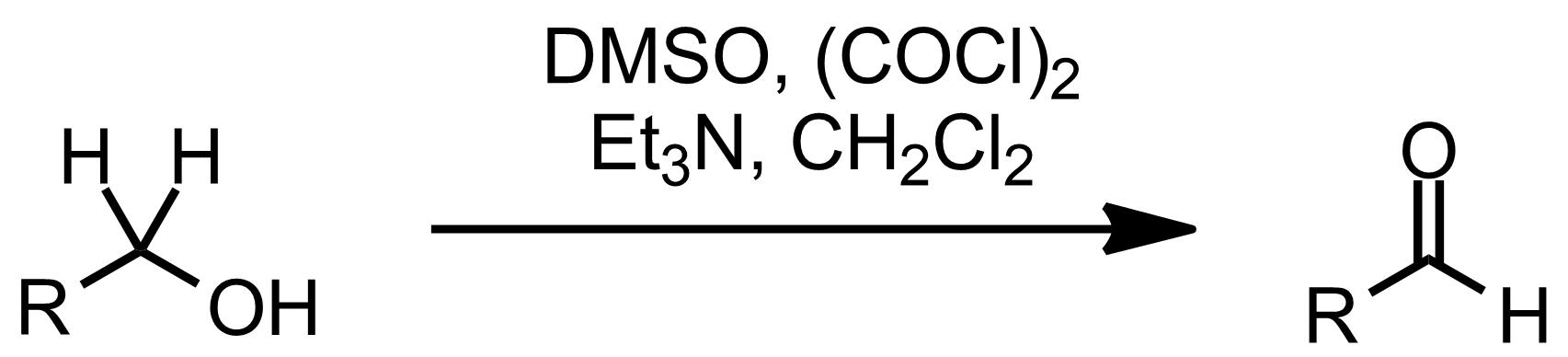 Schematic representation of the Swern Oxidation.