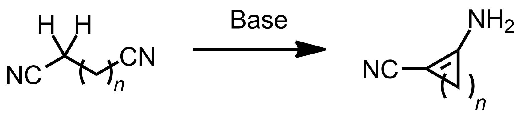 Schematic representation of the Thorpe-Ziegler Reaction.