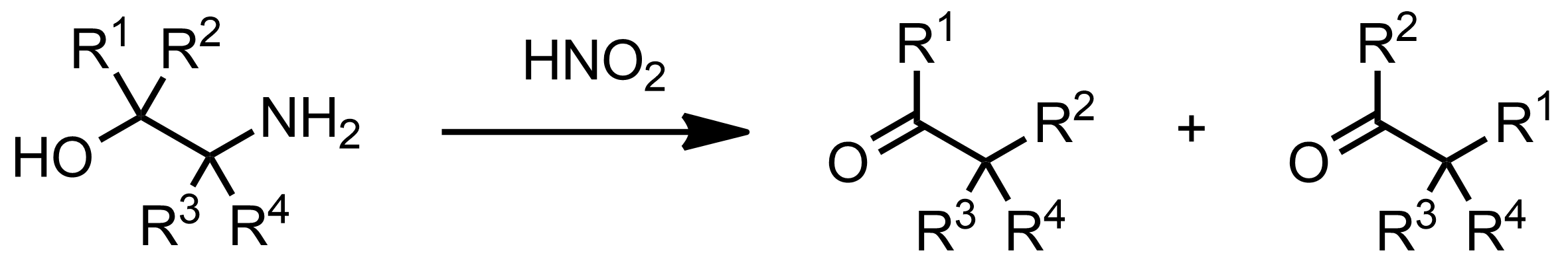 Schematic representation of the Tiffeneau-Demjanov Rearrangement.