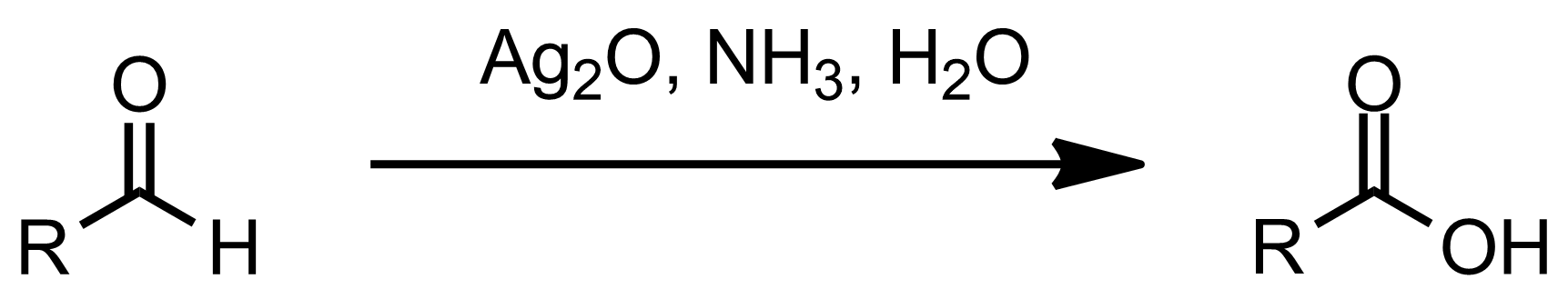Schematic representation of the Tollens Oxidation.