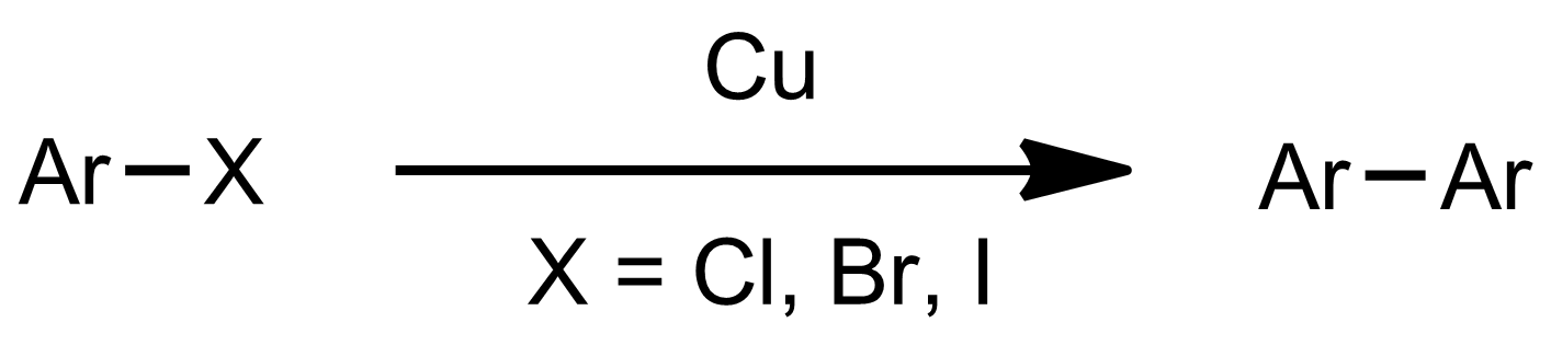 Schematic representation of the Ullmann Coupling.