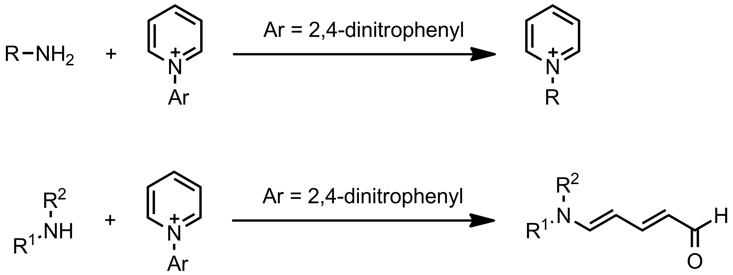 Schematic representation of the Zincke Reaction.
