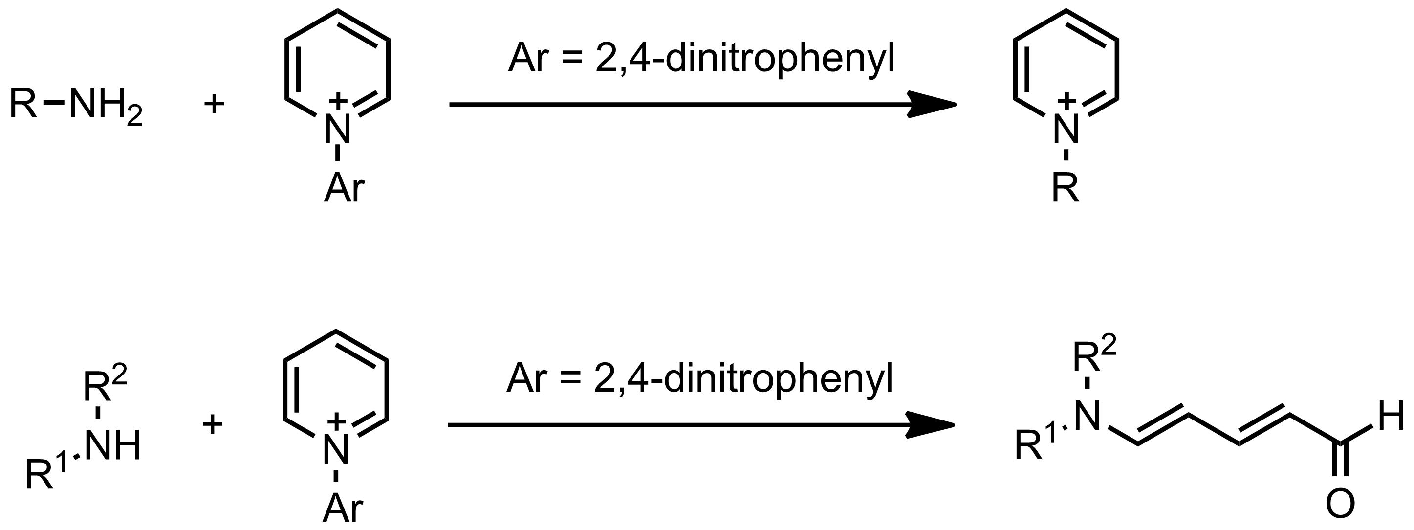 Schematic representation of the Zincke Reaction.