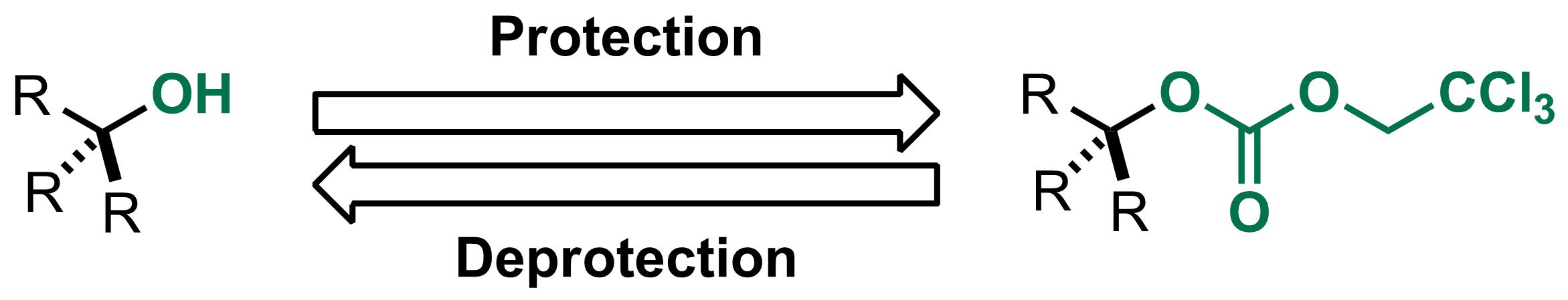 2,2,2-Trichloroethyl carbonate (Troc) scheme